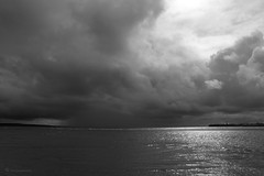 Rainstorm over Liscannor Bay (Volker Becker) Tags: bw seascape liscannorbay