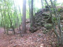 Rock Outcropping on Backcountry Trail