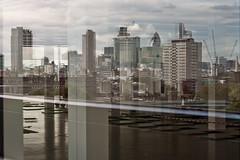 The Angel Building (Gary Kinsman) Tags: reflection london tower skyline architecture angel office cityscape view zoom compression telephoto highrise canon5d islington openhouse n1 cityoflondon londonist 2011 openhouselondon canon70300mm angelbuilding openhouselondon2011