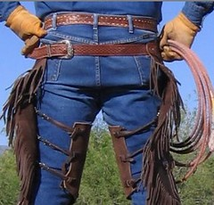 WRANGLER COWBOY (AZ CHAPS) Tags: ranch leather cowboy wranglers rope gloves chinks
