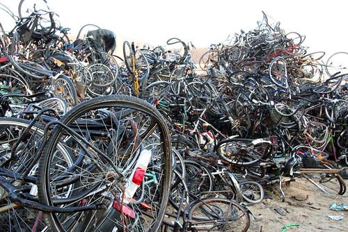 Bikes in a dump