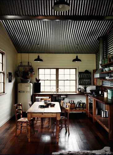 Sharyn Cairns {rustic vintage industrial modern kitchen} - a photo - Pics Of Rustic Industrial Kitchen