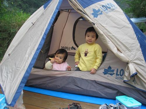 小瑀魚與小咕嚕最喜歡露營