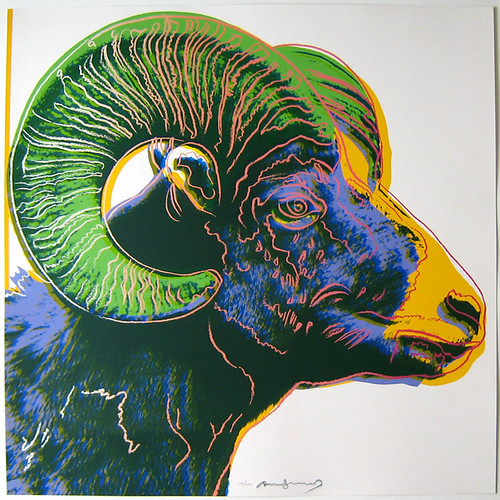 Andy Warhol Ram Color Screenprint From Endangered Species