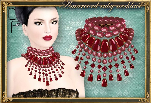 AMARCORD ruby necklace