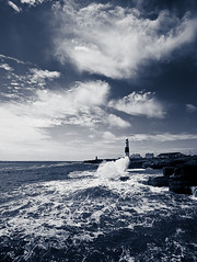 Portland Bill Light House..Cool. (Flipper24.) Tags: uk blackandwhite mono dorset sigma1020mm portlandbilllighthouse nikond90