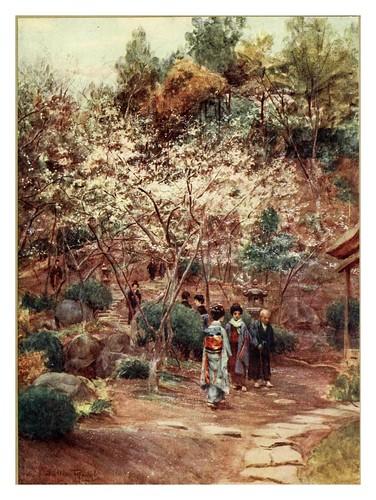 002-Ciruelos en Atami-Japanese gardens 1912-Walter Tyndale