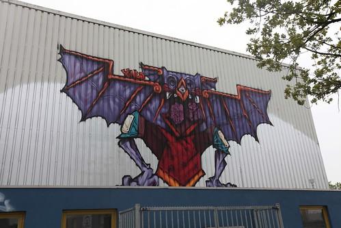 benuz streetart mural in heerlen