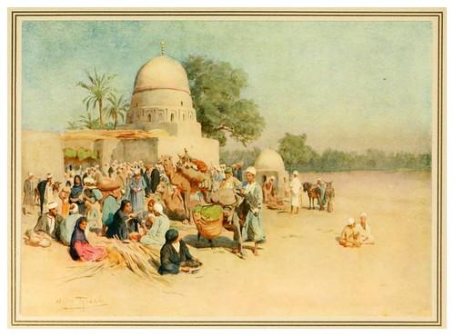 014-Un mercado al borde del desierto-An artist in Egypt (1912)-Walter Tyndale