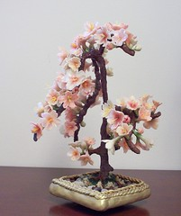 Cherry Blossom Bonsai Tree (Air-dry clay) (MollyDiBi) Tags: flowers sculpture tree garden polymerclay clay bonsai cherryblossom sakura airdryclay apoxie resinclay epoxyclay graceclay sukerurun