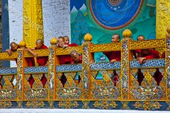 Bhutan (transcendentant) Tags: smiling religious colorful bhutan natural candid buddhist traditional kingdom shangrila monks friendly casual serene dzong relaxed tranquil himalayas mystic timeless easygoing budhist genuine unspoiled informal grossnationalhappiness bhutanesefort