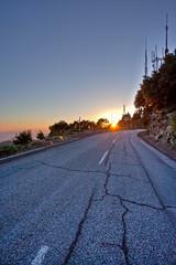 Forgotten Asphalt (Edwin_Abedi) Tags: road sunset mountain lines landscape losangeles mount wilson asphalt radar mtwilson ef1740mmf4lusm eos5dmarkii mygearandme