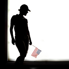 Independence Day (YetAnotherLisa) Tags: shadow hat flag cap sillouette absolutegoldenmasterpiece 4thofjulysillouetteshadow