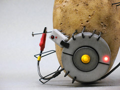 so, how are you holding up? (olo) Tags: replica explore potato valve videogame prop portal2 3dprinting glados shapeways