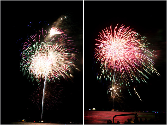 July 4th fireworks diptych 15