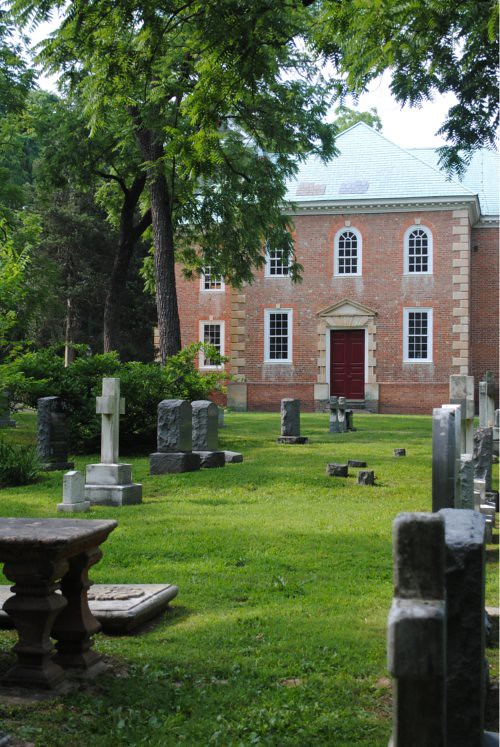View of Aquia Church from the cemetery 500