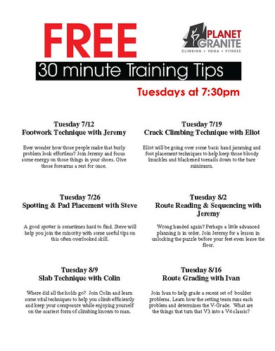 Training Tips July
