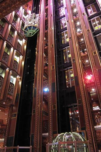 Elevators in Spirit Atrium