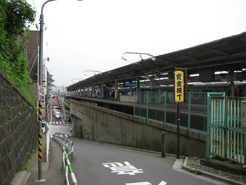 Nishinippori rail station (looking North)