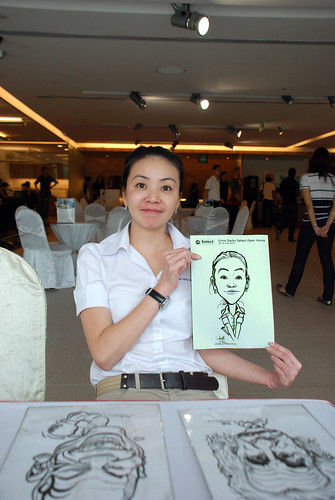 Caricature live sketching for Sime Darby Select Open House Day 2 - 8