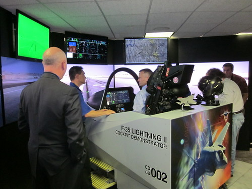 Oklahoma State Rep. Colby Schwartz flies the F-35 cockpit demonstrator, SD001267 by Michael Bates, on Flickr