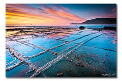 Tessellated Pavement (iii), Eaglehawk Neck, Tasmania, Australia (Matthew Stewart | Photographer) Tags: blue autumn light red sea sky black reflection beach water rock clouds port sunrise arthur boat sand rocks matthew australia formation stewart tasmania pan loaf tasman peninsula seashore tessellatedpavement eaglehawkneck crystallisation tess1