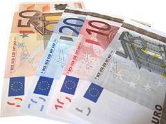 各種ユーロ紙幣