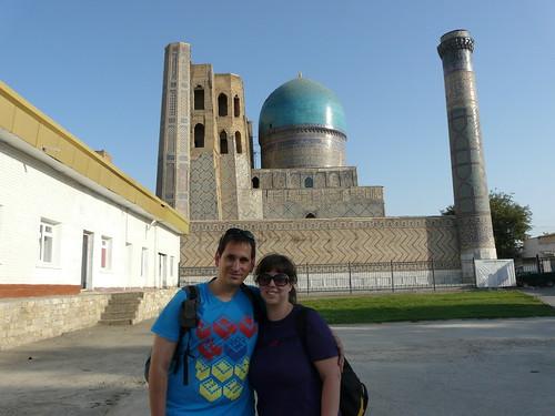 En la Mezquita de Bibi Khanym