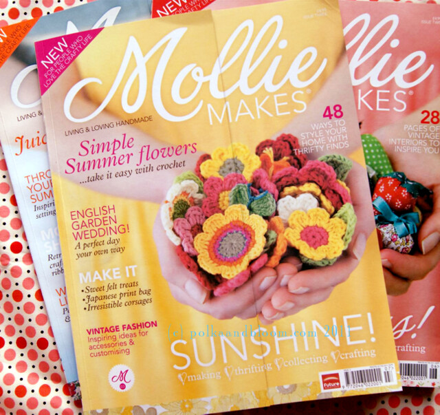 Polka & Bloom pattern in Mollie Makes magazine