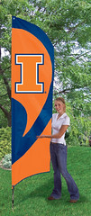 Illinois Tall Feather Flag