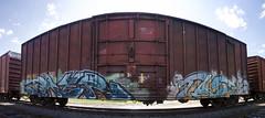 Baer & Taste (Hear45) Tags: minnesota train graffiti minneapolis mpls tc spraypaint taste twincities hr mn freight aerosolart graffitiart 612 tko baer btr trainart rtd fr8 benching freightart fr8art