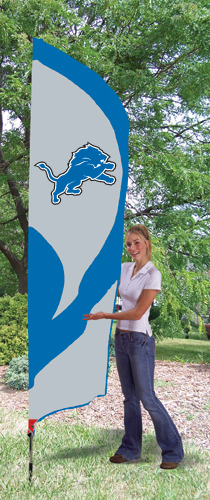 Detroit Lions Tall Feather Flag