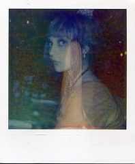 'Roid Week 2011, Day Two: Diner Dreams (Emily Savill) Tags: 2 two portrait color colour film analog project polaroid day accident diner business shade 600 dreams week analogue edition 70 destroyed development impossible roid px 2011 px70