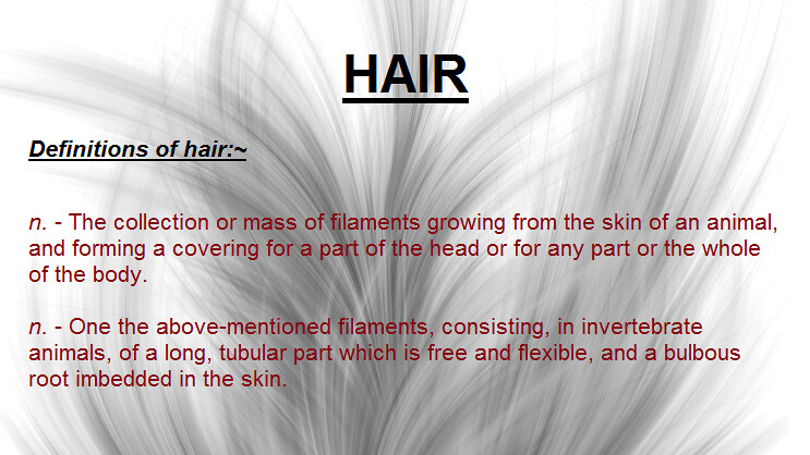 Hair Definition : HAIR DEFINITION (Hair Advisory) Tags: colour hair pattern natural skin ...