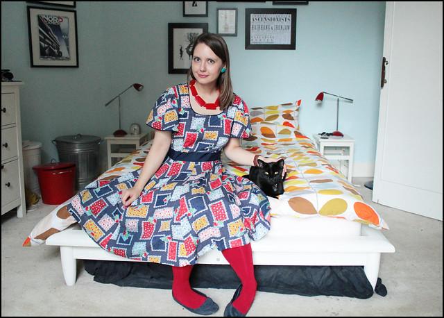 portrait with cat
