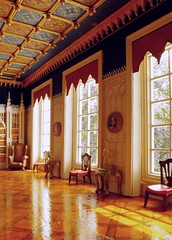 Sweetington Castle (sweetington) Tags: castle miniature interior parquet gothic palace 18thcentury playmobil dollhouse scalemodel stately dollshouse grandeur sidford timsidford wwwtimsidfordcom