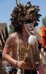 Pueblo Comanche Dancer (Ilhuicamina) Tags: newmexico native indian pueblo dancer nativeamerican sanjuan picnik headdress regalia comanche