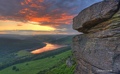 a risky business (gobayode photography...times) Tags: rock landscape elements riskybusiness ladybowerreservoir naturalelements naturecolours takingrisks highpeaknationalpark isitworthit derbyshirelandscape storybehindapicture storyofapicture photographyrisks vertigoshots