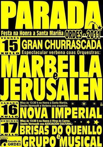 Ordes 2011 - Festas de Santa Mariña en Parada - cartel