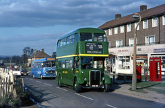 London Country RT3051 arr. at Aveley Usk Road 1971 (David Christie 14) Tags: bus lc rt aveley