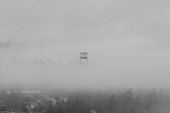 B&W Water Tower (Photography Chronicles) Tags: seattle blackandwhite bw usa watertower washingtonstate