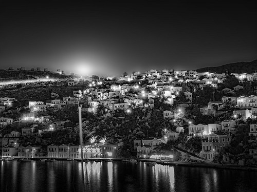 Moonlight over Symi by symivisitor