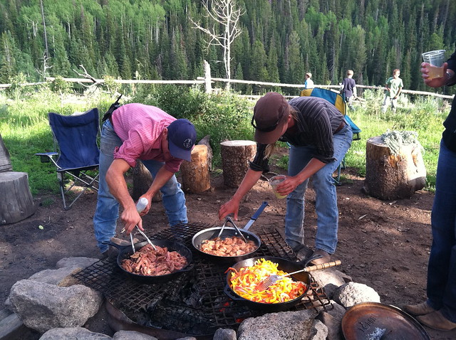 Fajitas at Pack Camp