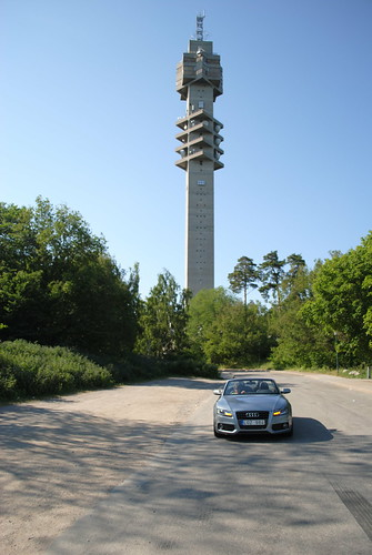 Audi A5 Cab vid Kaknästornet