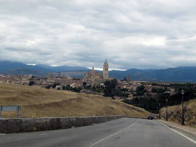 Driving along the roads of Segovia