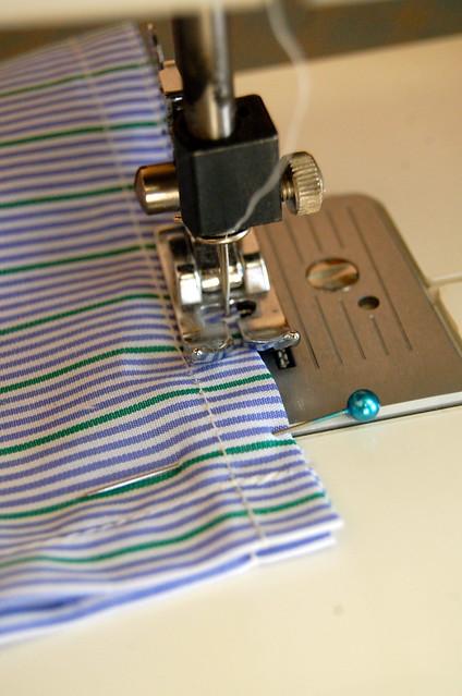 sew in half