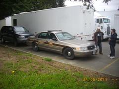 Police Interceptor at movie set (Foden Alpha) Tags: ford car police victoria crown mapleridge cruiser interceptor 660pda