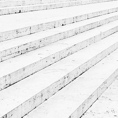 Last Chance On The Stairway (VLetrmx21) Tags: blackandwhite bw abstract rome roma architecture stairs square nikon contemporary minimal stairway highkey minimalism richardmeier arapacisaugustae d5000 afs18105vr