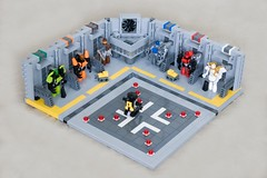 Prepping the pad for launch (ted @ndes) Tags: lego hangar system launch base mecha moc exoforce microscale