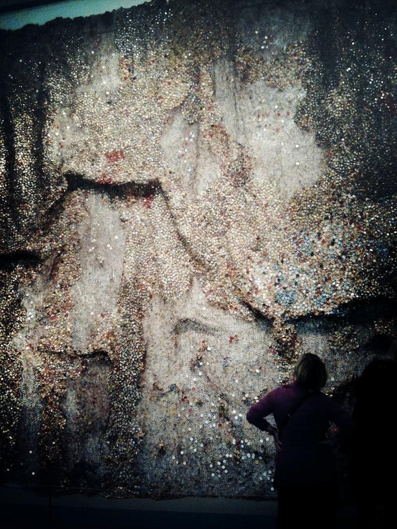 El Anatsui recycled wall art 8